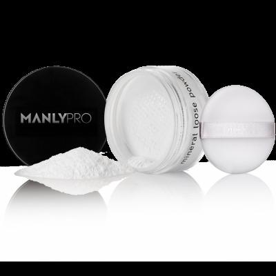 Рассыпчатая матирующая минеральная пудра тонкого помола без цвета Manly Pro MPW00 25г: фото